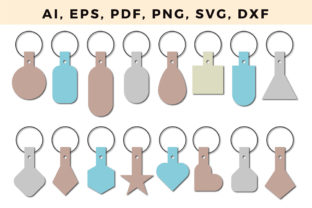 Print on Demand: Standard Key Fob Template Svg Bundle 2 Graphic 3D SVG By NGISED