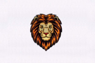 Adult Male Lion Face Wild Animals Embroidery Design By StitchersCorp