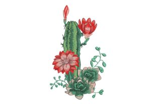 Print on Demand: Cactus Bouquets & Bunches Embroidery Design By ArtEMByNatali 1