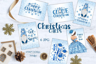 Print on Demand: Christmas Gnomes Cards/Winter Cards Graphic Illustrations By LerVik