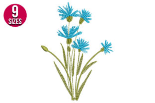 Print on Demand: Cornflower Embroidery Bouquets & Bunches Embroidery Design By Nations Embroidery
