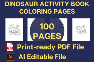 Print on Demand: DINOSAUR ACTIVITY COLORING BOOK for KIDS Graphic Teaching Materials By Creative store