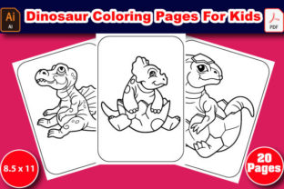 Print on Demand: Dinosaur Coloring Pages for Kids Graphic Coloring Pages & Books Kids By T-shirt_Zone