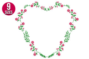 Print on Demand: Floral Wreath Floral Wreaths Embroidery Design By Nations Embroidery