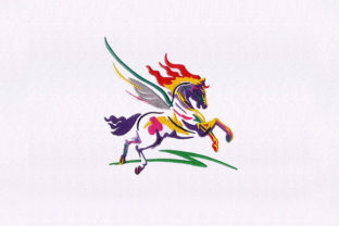 Flying Pegasus Horse Horses Embroidery Design By StitchersCorp