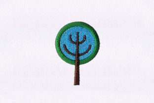 Green and Blue Tree Forest & Trees Embroidery Design By StitchersCorp