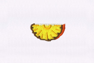 Half Slice Pineapple Food & Dining Embroidery Design By StitchersCorp