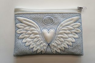 In the Hoop Cosmetic Bags Angel Wings with Heart Accessories Embroidery Design By ImilovaCreations 5