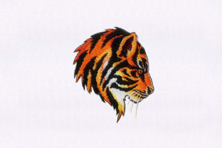 Looming Side Tiger Wild Animals Embroidery Design By StitchersCorp