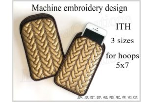 Phone Case in the Hoop Accessories Embroidery Design By ImilovaCreations