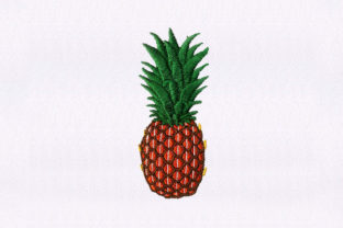Pineapple Fruit Food & Dining Embroidery Design By StitchersCorp
