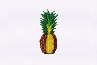Quarter Cut Pineapple Food & Dining Embroidery Design By StitchersCorp