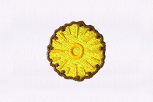 Ripe Pineapple Slice Food & Dining Embroidery Design By StitchersCorp