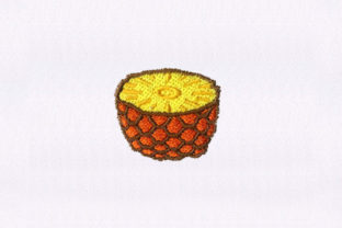 Savory Cut Pineapple Food & Dining Embroidery Design By StitchersCorp