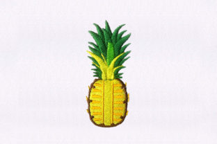 Savory Pineapple Fruit Food & Dining Embroidery Design By StitchersCorp