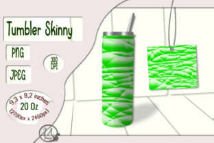 Print on Demand: Skinny Tumbler Light-Green - 20 OZ Graphic Crafts By LilianaArt