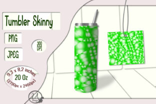 Print on Demand: Skinny Tumbler Light-Green-02 - 20 OZ Graphic Crafts By LilianaArt