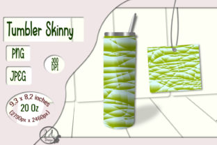 Print on Demand: Skinny Tumbler Yellow-Green (01) - 20 OZ Graphic Crafts By LilianaArt