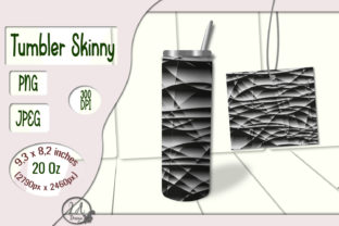 Print on Demand: Skinny Tumbler-Black-White (01) 20 OZ Graphic Crafts By LilianaArt