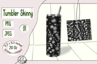 Print on Demand: Skinny Tumbler-Black-White-02 20OZ Graphic Crafts By LilianaArt