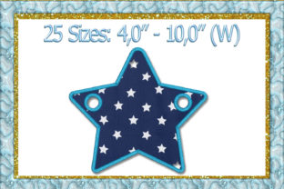 Print on Demand: Star Banner Applique Holidays & Celebrations Embroidery Design By larisaetsy