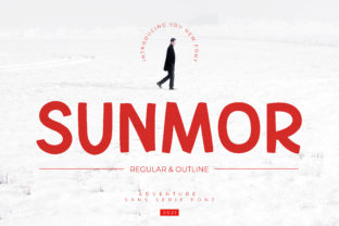 Print on Demand: Sunmor Display Font By fontherapy