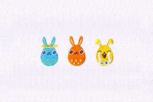 Three Easter Eggs Easter Embroidery Design By StitchersCorp