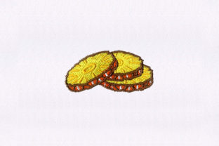 Three Slices of Pineapple Food & Dining Embroidery Design By StitchersCorp