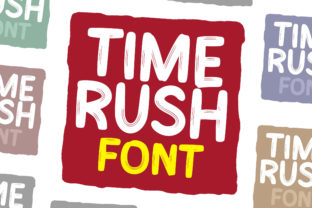 Print on Demand: Time Rush Display Font By fontherapy