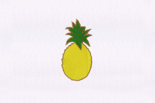 Yellow Ripe Pineapple Food & Dining Embroidery Design By StitchersCorp