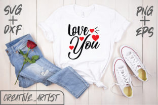 Print on Demand: Love You Graphic Print Templates By Creative_Artist