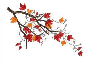 Autumn Branch Autumn Embroidery Design By NinoEmbroidery