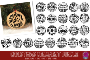 Christmas Ornament Svg Bundle Graphic Crafts By Rumi Designed 1