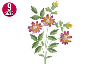 Print on Demand: Floral Bunch Bouquets & Bunches Embroidery Design By Nations Embroidery