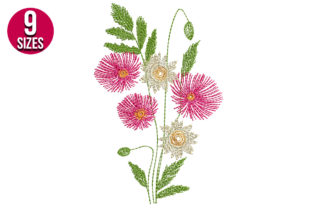 Print on Demand: Flower Bunch Bouquets & Bunches Embroidery Design By Nations Embroidery 1
