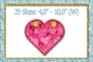 Print on Demand: Heart Banner Applique Holidays & Celebrations Embroidery Design By larisaetsy