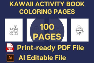 Print on Demand: KAWAII COLORING PAGES ACTIVITY BOOK Graphic Coloring Pages & Books By Creative store