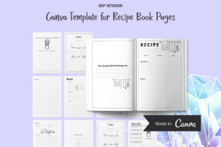 Print on Demand: KDP Canva Template for Recipe Book Pages Graphic KDP Interiors By The Low Content Bookshelf