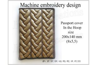 Passport Cover in the Hoop Travel & Season Embroidery Design By ImilovaCreations