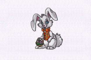 Rabbit Eggs Easter Easter Embroidery Design By StitchersCorp