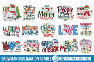 Snowman Sublimation Bundle Graphic Crafts By CraftlabSVG