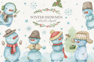 Watercolor Snowman Clipart Graphic Objects By Orange Peafowl Art