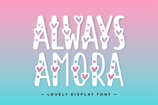 Print on Demand: Always Amora Display Font By Creative Fabrica Fonts