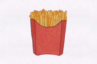 Cheesy French Fries Food & Dining Embroidery Design By StitchersCorp