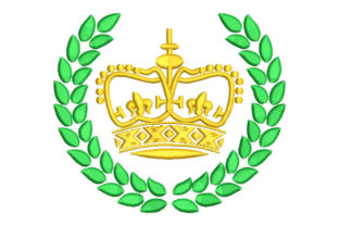 Crown with Shield Work, Religion & School Embroidery Design By Embroiderypacks