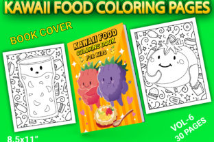 Print on Demand: Kawaii Food Coloring Pages with Cover Graphic Coloring Pages & Books Kids By Simran Store