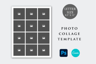 Print on Demand: Letter Size Photo Collage Template Graphic Print Templates By PlannerArtInserts