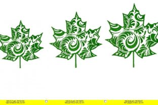 Maple Leaf Curly Floral & Garden Embroidery Design By LaceArtDesigns 3