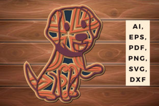 Print on Demand: Multi Layer Paper Cut Dog for Decor Svg Graphic 3D SVG By NGISED