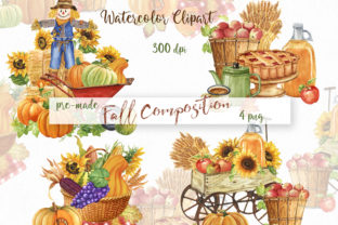 Watercolor Thanksgiving Day Graphic Illustrations By KaleArtCreative